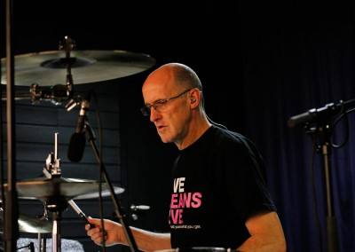 The Elton Show rehearsal - drummer charlie morgan