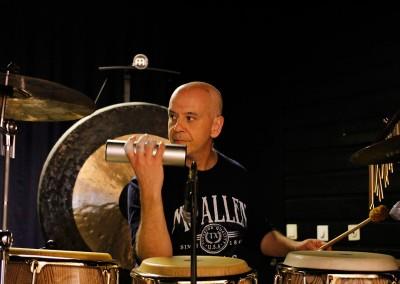 The Elton Show rehearsal - percussionist giancarlo spirito